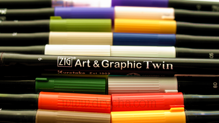 Kuretake Zig Art&Graphic Twin - video i wzornik