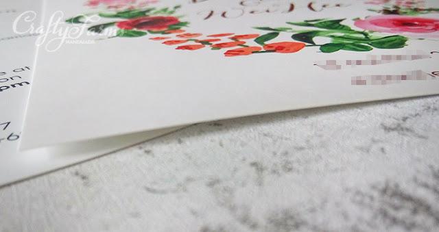 Burgundy Red Floral Wedding Invitation Card Printing Matte