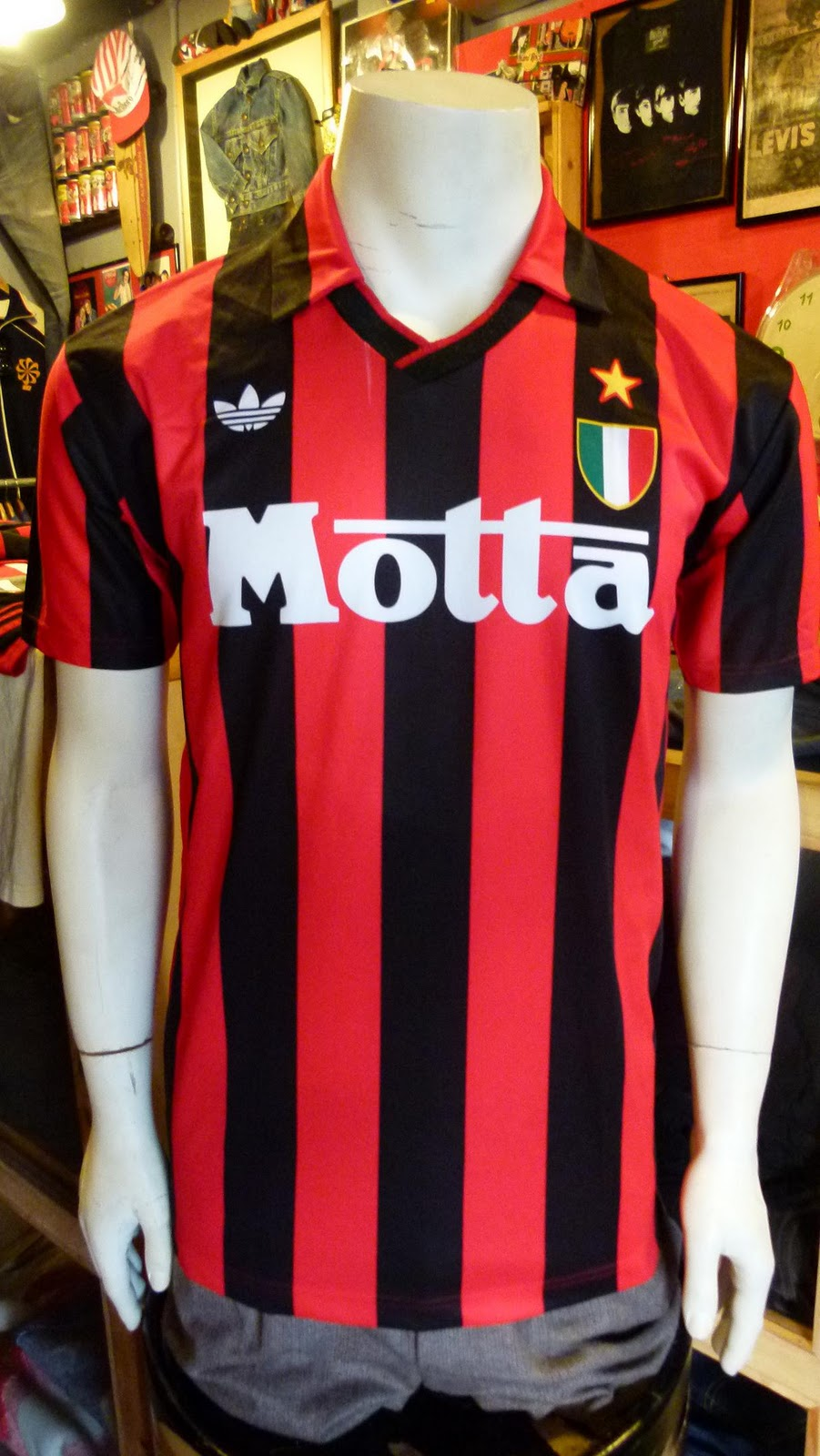 Used Clothing Strike On Twitter New 80s Adidas Top Ten: Pop Used Clothing: AC Milan Home Jersey