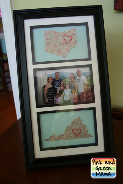 Homemade Gift Embroidered Map Going Away