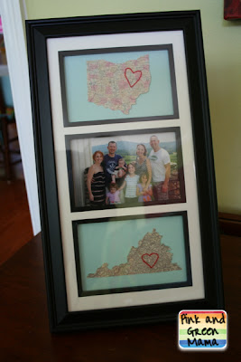 Pink And Green Mama Homemade Gift Embroidered Map