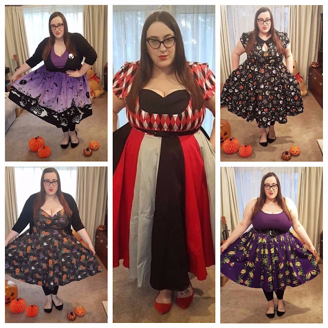 Plus size clothing: Frocktober/Halloween special