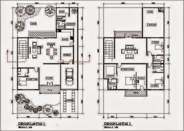 Denah New Denah Rumah Minimalis 2 Lantai Ukuran 7x12 Auto