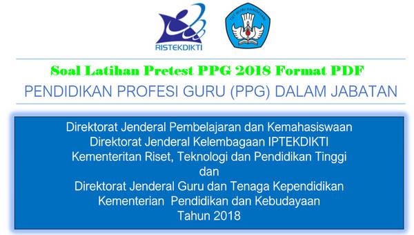 Soal Latihan Pretest PPG 2018 Format PDF
