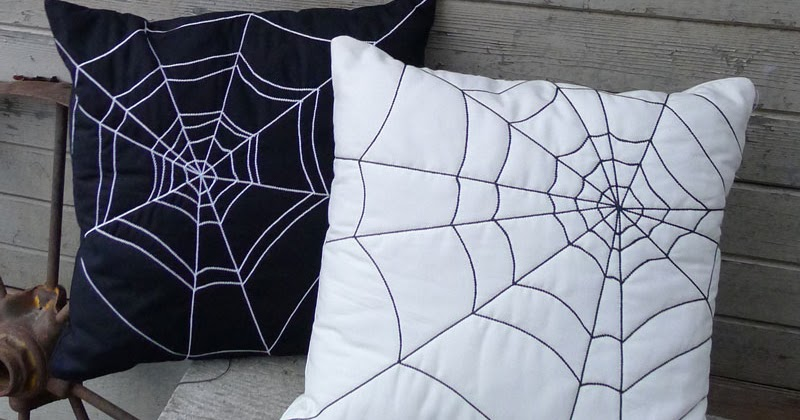 Pieces by Polly Quilted Spider Web Pillows
