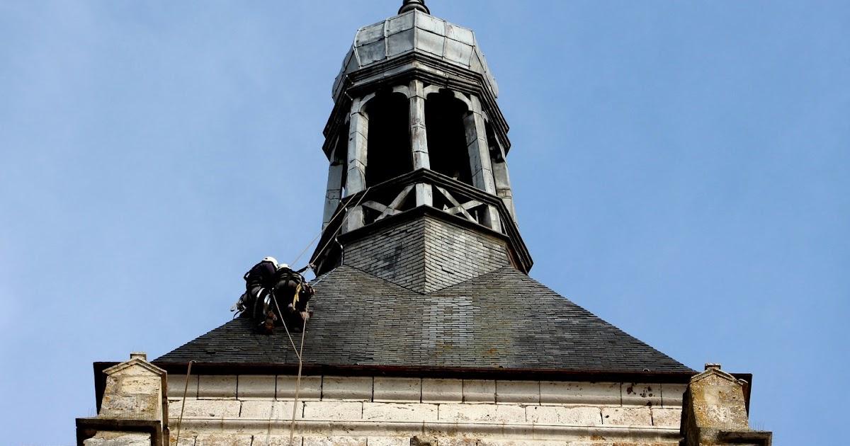 saint brice info rt installation d 39 un paratonnerre au sommet de la tour notre dame du val. Black Bedroom Furniture Sets. Home Design Ideas