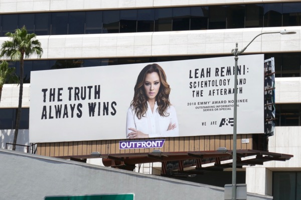 Leah Remini Scientology Aftermath 2018 Emmy nominee billboard