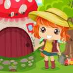 G4K Cute Girl Rescue From Garden House Game