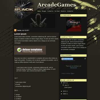 ArcadeGames blogger template. template blogspot games blog