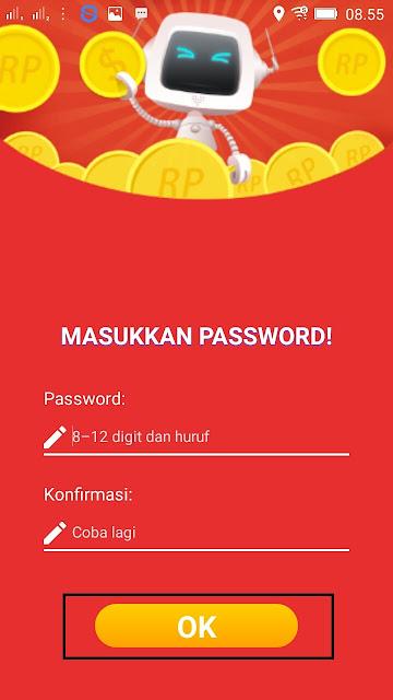 Cara membuat password di aplikasi beemovie