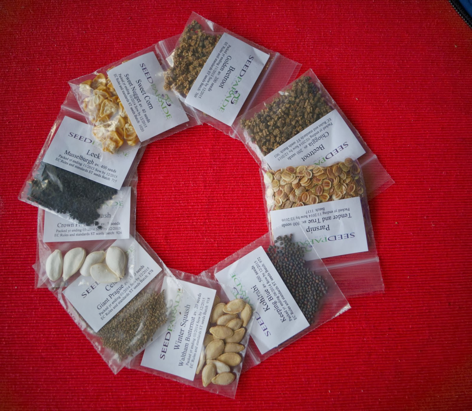 Veggie Seeds 1 - 'Grow Our Own' Allotment blog 2014