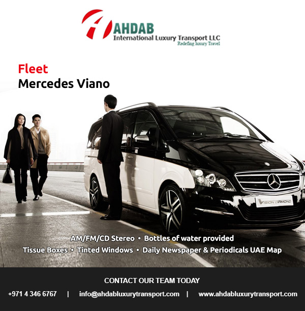 Welcome To Ahdab International Luxury Transport Mercedes Viano Car