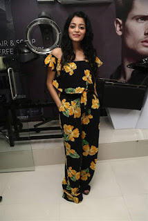 Actress Janani Iyer Stills in Floral Dress at Tony Guy Essensuals Launch  0006