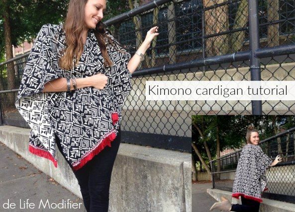 kimonos rectos con un cuadrado de tela