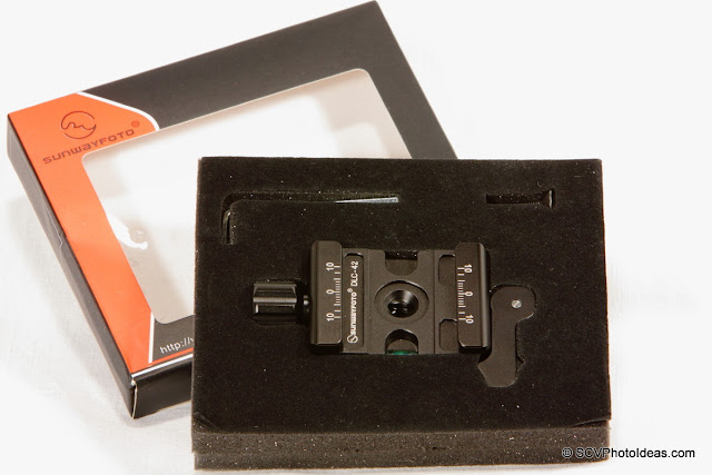 Sunwayfoto DLC-42 Duo Lever/Knob QR Clamp in transport foam