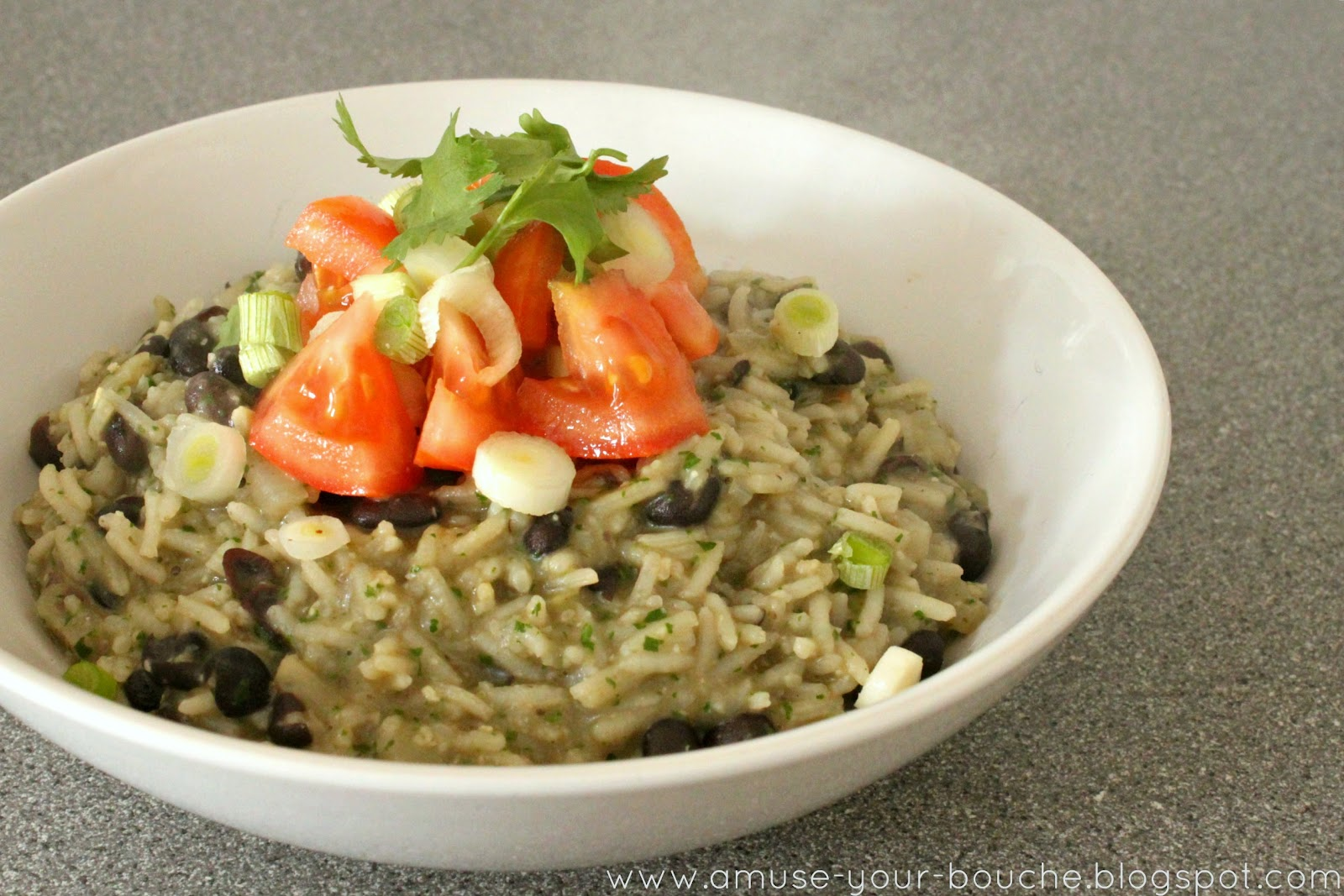 mexican inspired rice with coriander pesto and black beans amuse your bouche. Black Bedroom Furniture Sets. Home Design Ideas