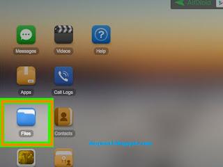 Tampilan Menu Aplikasi Airdroid