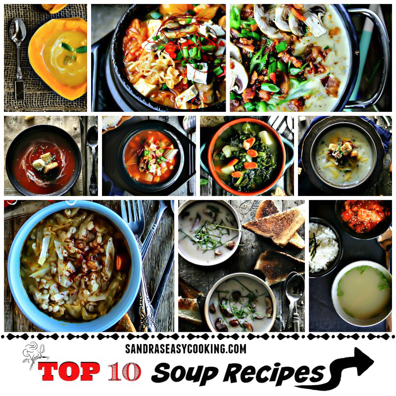 TOP 10 Soup Recipes ~ ROUND-UP