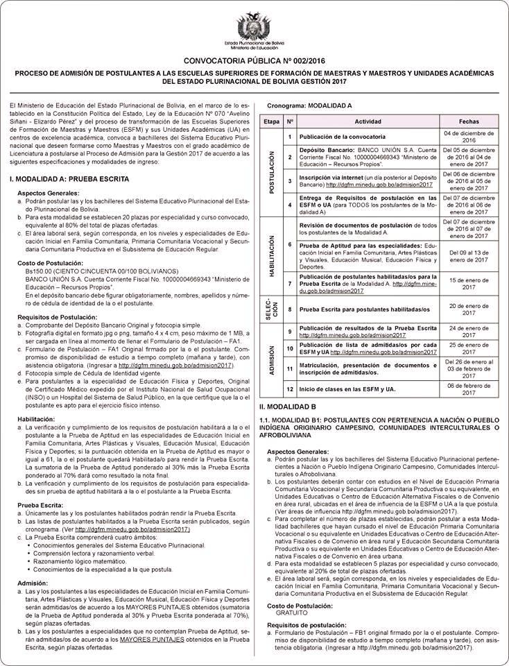 Profesores educaci n convocatoria al proceso de Convocatoria docentes 2016 ministerio de educacion