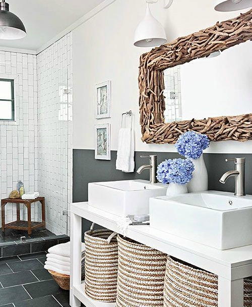 Decorative Bathroom Mirrors Coastal & Nautical Style | Shop the Look on green bedroom wall color ideas, small bathroom paint color bathroom ideas, bathroom wall painting ideas, hgtv bathrooms design ideas, bathroom wall murals ideas, green color bathroom design ideas, bedroom wall paint color ideas, bathroom wall decorating ideas, bathroom wall art ideas, black white gray bathroom ideas, bathroom wall lighting ideas,