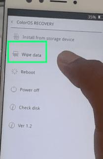 Hard Reset dengan Wipe Data F3