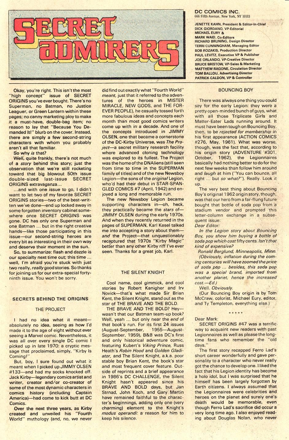Read online Secret Origins (1986) comic -  Issue #49 - 41