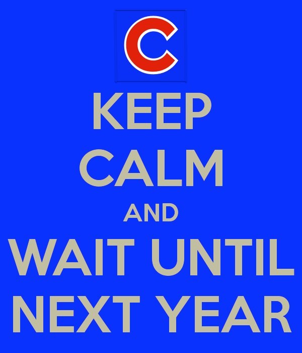 Image result for Cubs next year baby!