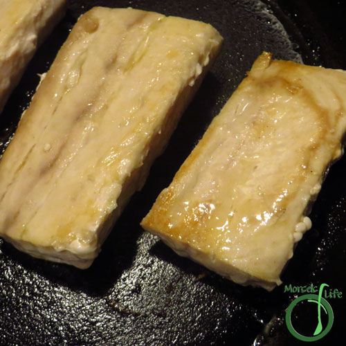 Morsels of Life - Ginger Glazed Mahi Mahi Step 3 - Heat additional oil, and then place mahi mahi fillet in pan, cooking for approximately 3-4 minutes. Turn fillets over, cooking for an additional 3-4 minutes. Serve with sauce from Step 2 drizzled on top.
