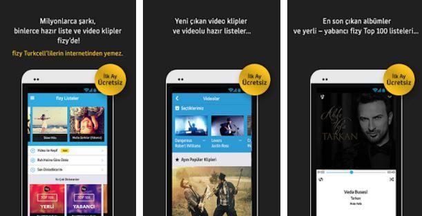 أستمع الى آلاف الاغاني والموسيقى التركية عبر تطبيق fizy müzik turkcell للاندرويد