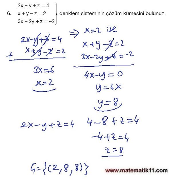 11. Sınıf Matematik Nova Yayınları Ders Kitabı 109. Sayfa İleri Düzey Çözümleri