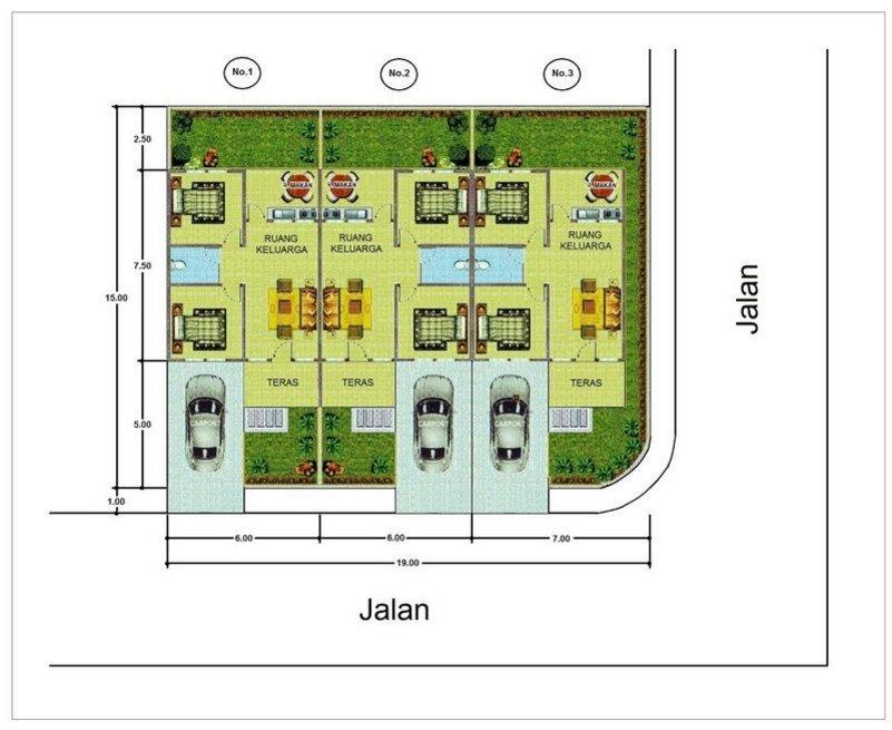 denah rumah 4 kamar 7x15 1