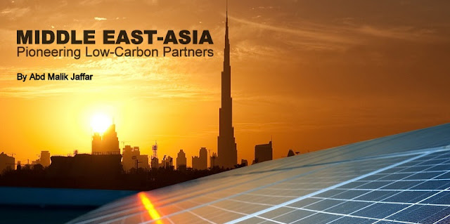 Middle East-Asia: Pioneering Low-Carbon Partners / Image Attribute: Rooftop Solar Panels in Dubai / Source: enerray.com