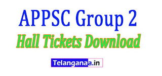 APPSC Group 2 Test Screening Test Hall Tickets 2017 Download