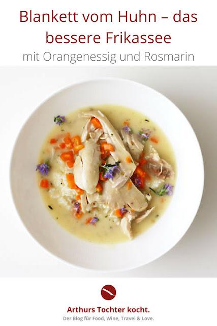 Blankett vom Huhn – das bessere Frikassee, fein abgeschmeckt mit Orangenessig und Rosmarin #blankett #huhn #hähnchen #hühnerfrikassee #rezept #foodblog #foodphotography #rosmarin #orangenessig #feine_rezepte #rezepte #einfach #blanquette_de_poulet #hühnerfrikassee #cremig #soße #bechamel #klassisch #leicht #kinder #gesund #einfach #spargel #tim_mälzer #donna_hay #lafer #tm5 #arthurs_tochter #foodblog