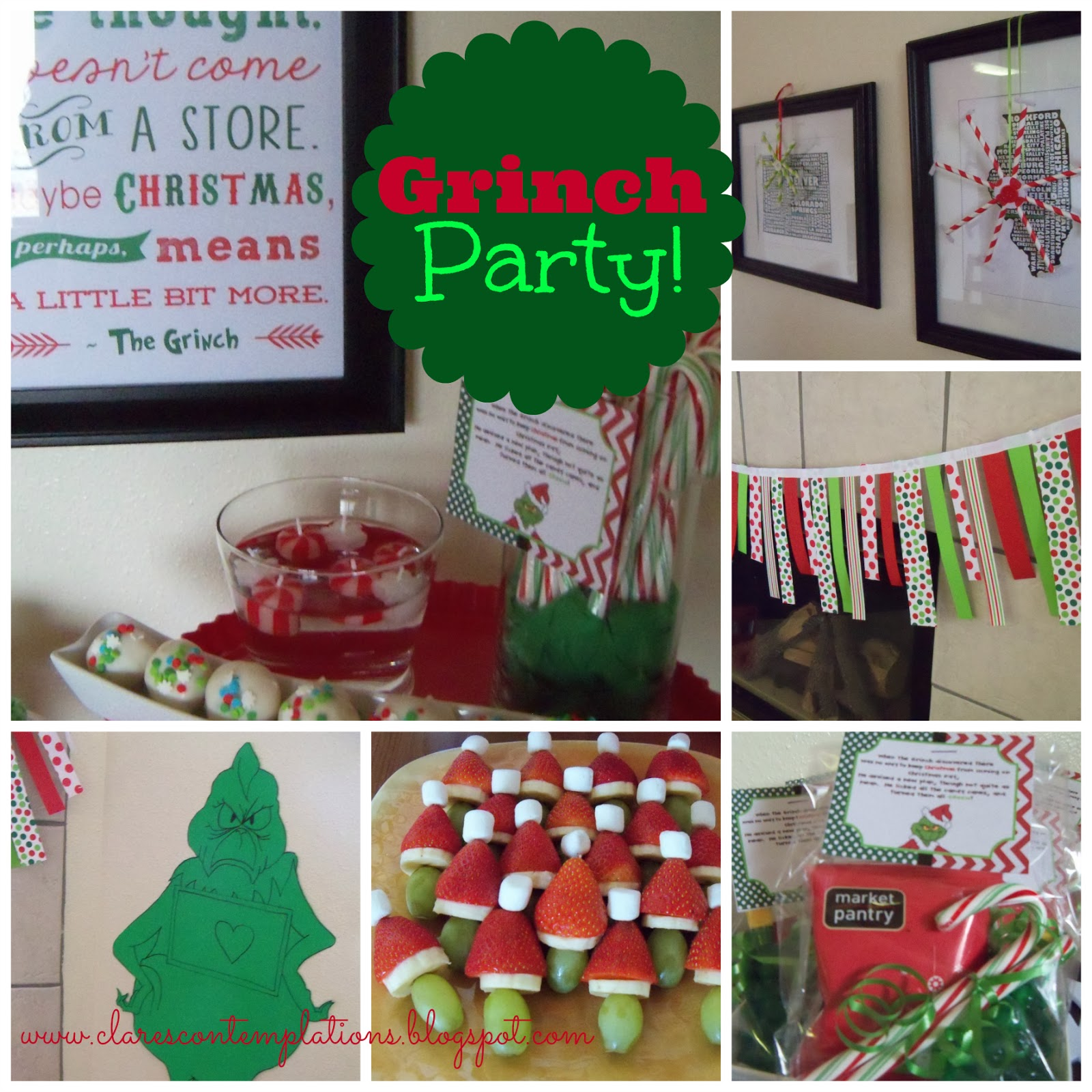 Christmas Decorations For A Party: Clare's Contemplations: Great Grinch Party