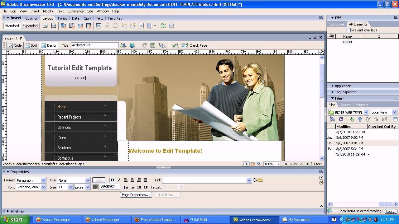Adobe Dreamweaver CS3 Free Download Full Version For Windows