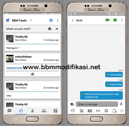 BBM Mod Like IOS (Iphone Theme) APK Terbaru