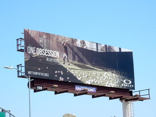 Oakley One Obsession baseball billboard