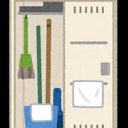 掃除ロッカーのイラスト(開いた状態)