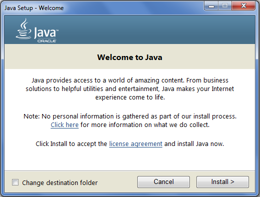 download 101 version 8 java update