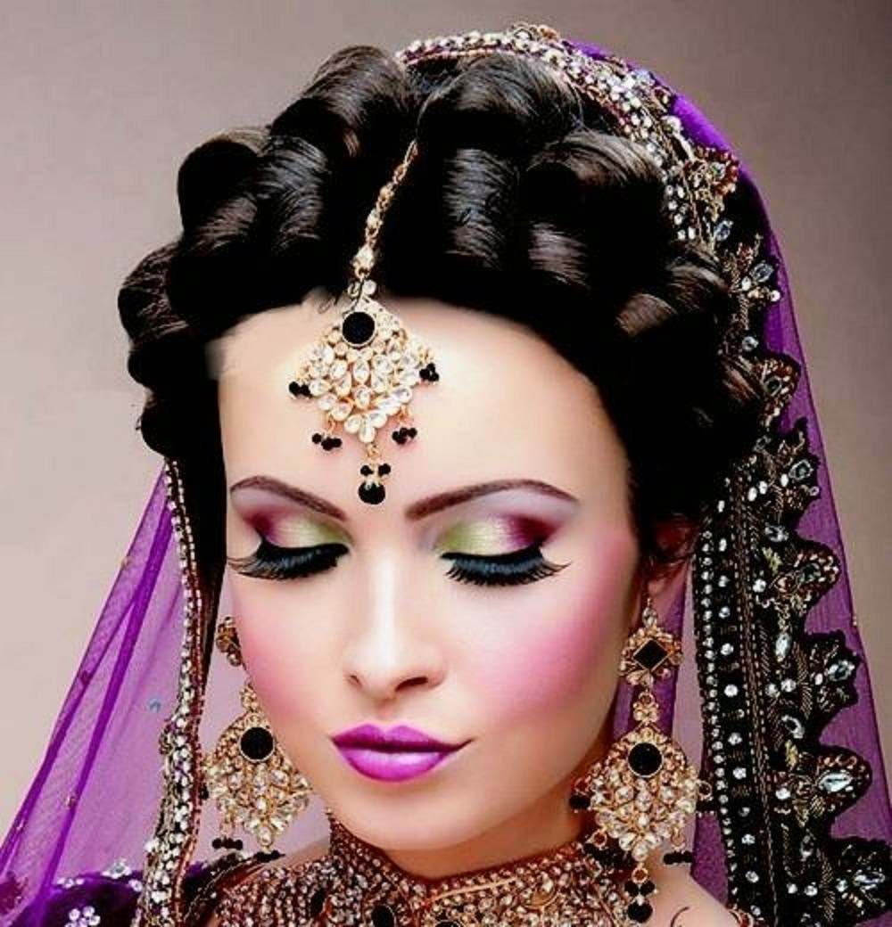 beautiful and pretty bridal makeup, desi indian bride dulhan