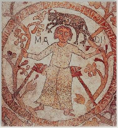 Sotto il segno astrologico del toro e accompagnato dalla scritta Madii che  lo identifica 97b598ab1cc3