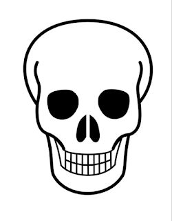 blank skull template example