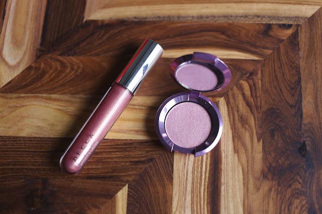 Becca cosmetics lilac Geode Highlighter & Gloss Duo