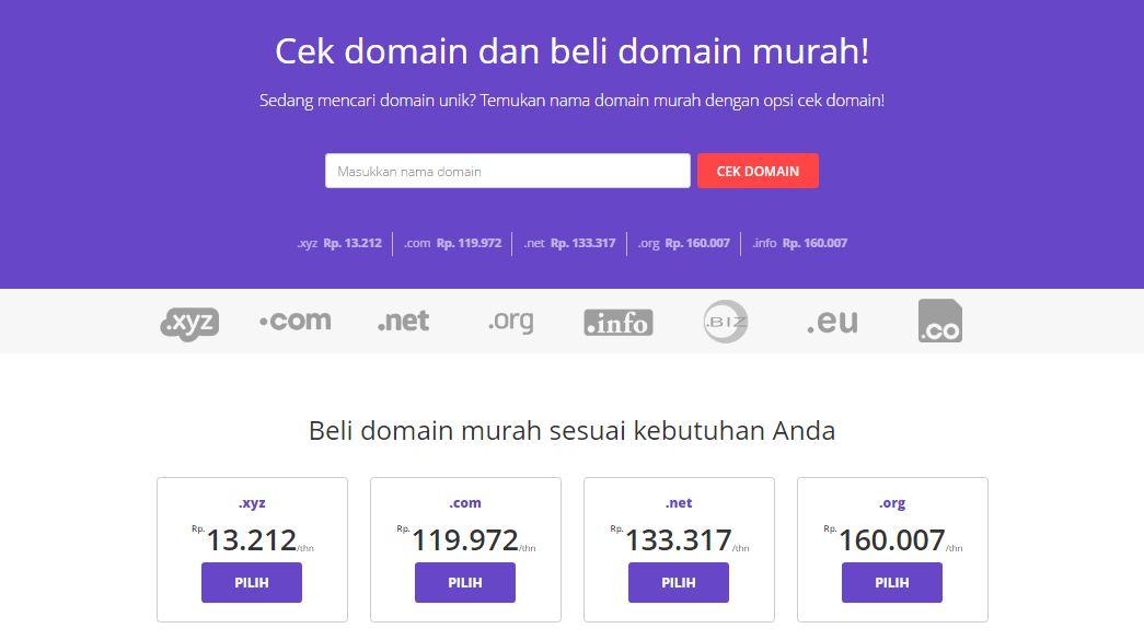 Hostinger web hosting tercepat indonesia