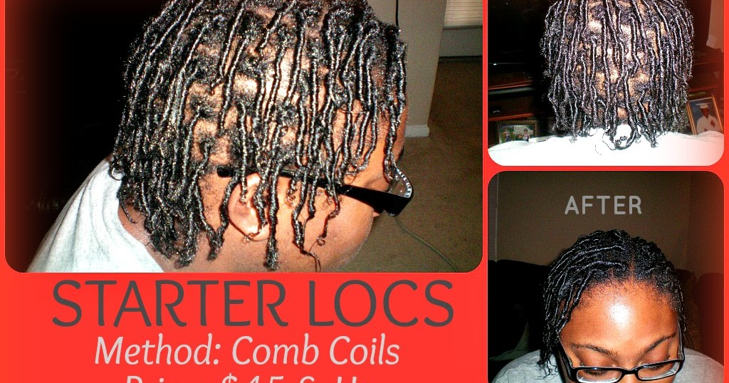 Eyeseye Creations Starter Locs Comb Coil Method