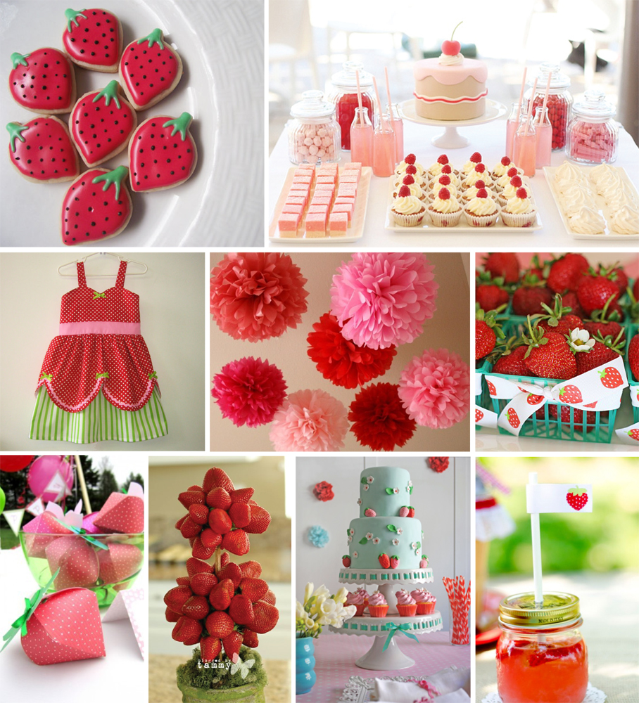 Itsy Belle: {INSPIRATION BOARD} A Berry Sweet Party