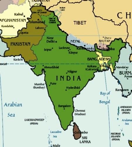 Cartina Muta Del Subcontinente Indiano.Il Blog Della Santa Caterina Subcontinente Indiano