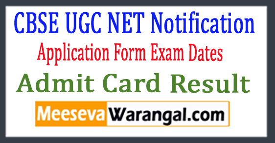 CBSE UGC NET Notification 2017 Application Form Exam Dates Admit Card Result