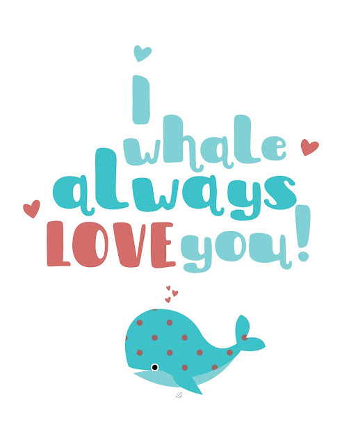 ©2017LostBumblebee | Free Printable, Donate to download, I whale always love you, Personal Use only, www.lostbumblebee.net, whale, kids print, printable, free art, whale art, polkadots